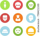 origami corner style icon set   ... | Shutterstock .eps vector #758421100