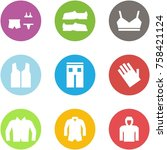 origami corner style icon set   ... | Shutterstock .eps vector #758421124