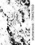 grunge black and white pattern. ...   Shutterstock . vector #758427010