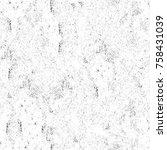 grunge black and white seamless ... | Shutterstock . vector #758431039