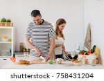 people and healthy eating...   Shutterstock . vector #758431204