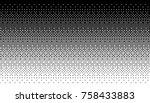 pixel art dithering background... | Shutterstock .eps vector #758433883