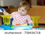 adorable cute beautiful little... | Shutterstock . vector #758436718