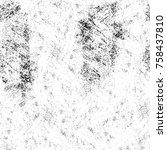 grunge black and white seamless ... | Shutterstock . vector #758437810