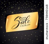 lettering black friday sale on... | Shutterstock .eps vector #758440168