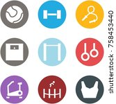 origami corner style icon set   ... | Shutterstock .eps vector #758453440