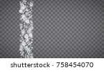 blizzard snowflakes on... | Shutterstock .eps vector #758454070