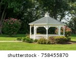A Pavilion Or Gazebo In A...