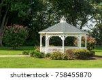 A Pavilion Or Gazebo In A...