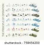 infographics and diagrams of... | Shutterstock .eps vector #758456203