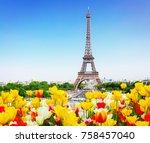 Eiffel Tower And Paris Skyline...