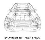 concept car. vector rendering... | Shutterstock .eps vector #758457508