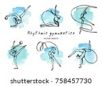 vector illustration. rhythmic... | Shutterstock .eps vector #758457730