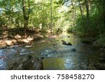 igneada forest and river. small ... | Shutterstock . vector #758458270