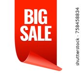 sale banner. realistic red... | Shutterstock .eps vector #758458834