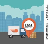 delivery service. delivery... | Shutterstock .eps vector #758461663