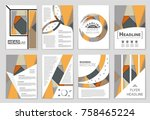 abstract vector layout... | Shutterstock .eps vector #758465224