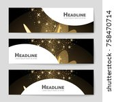 abstract vector layout... | Shutterstock .eps vector #758470714