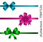 collection of color bows | Shutterstock .eps vector #75847126