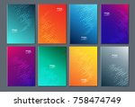 technology dot modern abstract... | Shutterstock .eps vector #758474749
