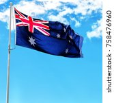 australia in the clear sky ...   Shutterstock . vector #758476960