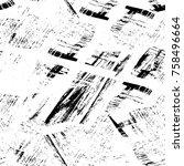 grunge black and white seamless ...   Shutterstock . vector #758496664