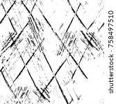 grunge black and white seamless ... | Shutterstock . vector #758497510