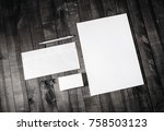 corporate stationery set. blank ... | Shutterstock . vector #758503123