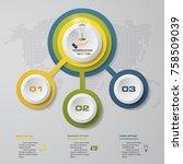 modern 3 options presentation... | Shutterstock .eps vector #758509039