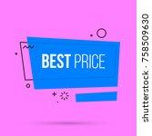 best price banner template in... | Shutterstock .eps vector #758509630