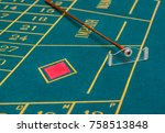 roulette table in the casino  ... | Shutterstock . vector #758513848