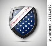 president's day shield banner...   Shutterstock .eps vector #758513950