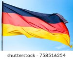 flag of germany against the...   Shutterstock . vector #758516254