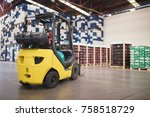large modern warehouse with... | Shutterstock . vector #758518729