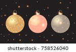 black vector background with... | Shutterstock .eps vector #758526040