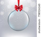 xmas ball with bokeh with... | Shutterstock .eps vector #758526160
