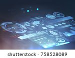 abstract futuristic hud and...