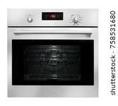single wall oven isolated on... | Shutterstock . vector #758531680