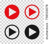 button  icon. vector... | Shutterstock .eps vector #758533078