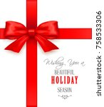 christmas greeting cards with... | Shutterstock .eps vector #758533306