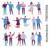 vector illustration in a flat... | Shutterstock .eps vector #758534506