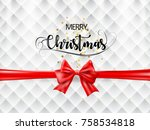 merry christmas text with... | Shutterstock .eps vector #758534818
