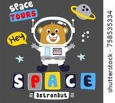 Stock vector astronaut space cartoon vector 758535334