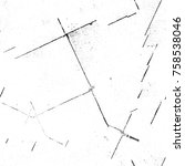 grunge black and white seamless ... | Shutterstock . vector #758538046