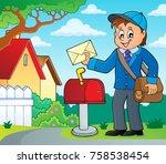postman topic image 2   eps10... | Shutterstock .eps vector #758538454