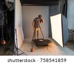 photographer photographing in... | Shutterstock . vector #758541859