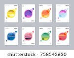 artistic covers or poster... | Shutterstock .eps vector #758542630