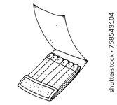 paper matches. an open box of... | Shutterstock .eps vector #758543104