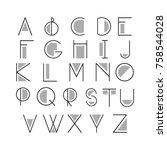 thin line style  linear modern... | Shutterstock .eps vector #758544028