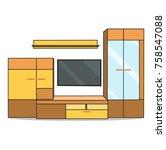 furniture for living room... | Shutterstock .eps vector #758547088